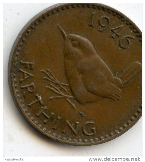 Great Britain Farthing 1946 - 1902-1971: Postviktorianische Münzen