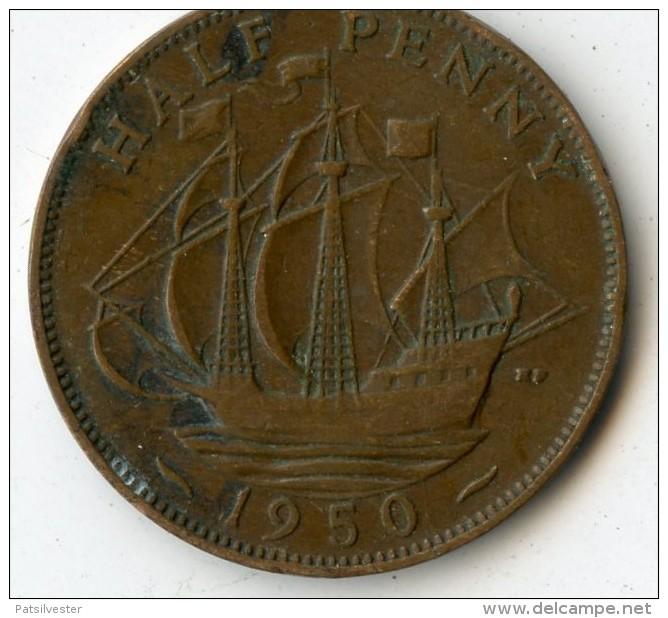 Great Britain Half Penny 1950 - 1902-1971: Postviktorianische Münzen