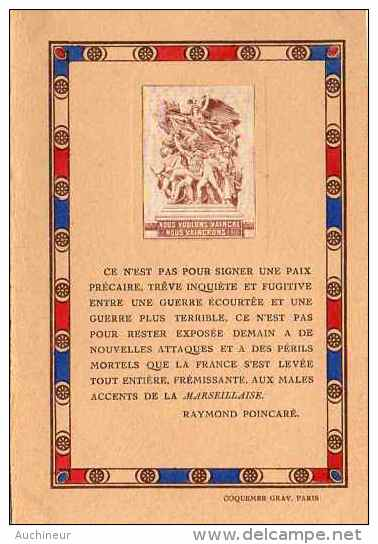 Nous Voulons Vaincre, Nous Vaincrons - Raymond Poincaré - Guerre 1914-18
