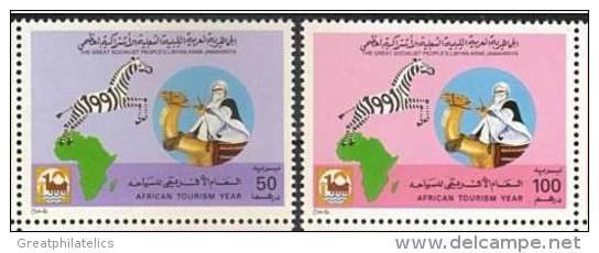 LIBYA 1991 AFRICAN TOURIST YEAR  / CAMEL  SC# 1427-28 VF MNH ANIMALS - Libya