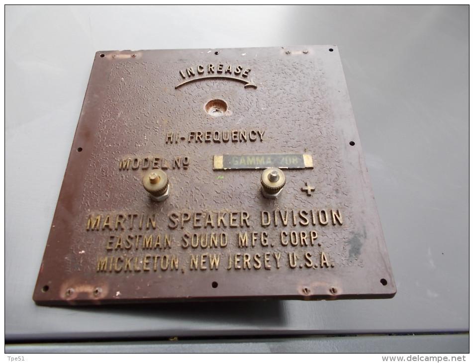 Plaque De Radio US MARTIN SPEAKER DIVISION 13x 13 Cm - Radio