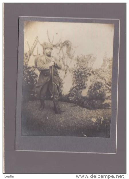 """Photo Militaire Guerre 14/18 - Inscription Manuscrite Verso  """"souvenir De La Guerre 1914-1915"""" - Krieg, Militär"""