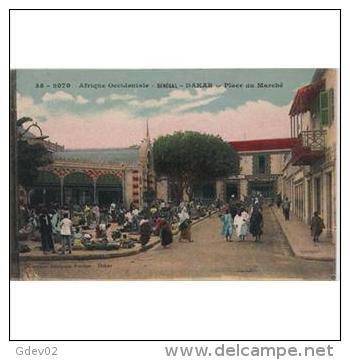 AFDNTP1060-LFTD2069TCMERMar Oc .Morocco.TARJETA DEL SENEGAL.Plaza Del Mercado.DAKAR - Mercados