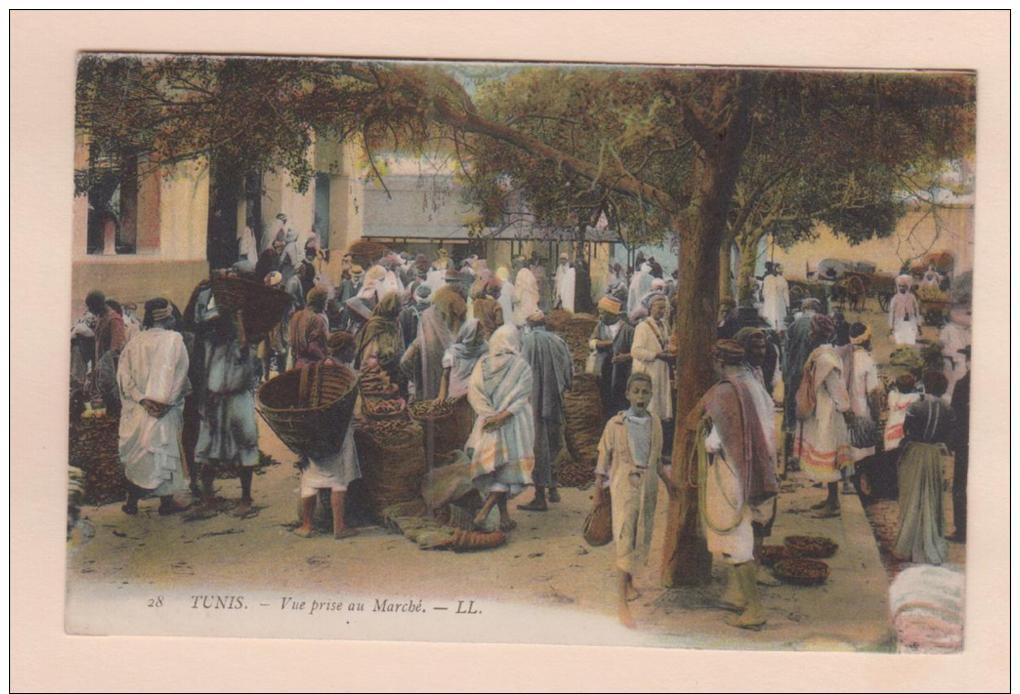D9705 Postcard Vintage Tunisia Africa, Vue Prise Au Marche, LL 28, Market Scene,   Used - Tunisia