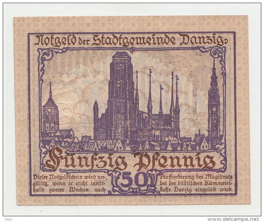 Danzig 50 Pfennig 15-4- 1919 UNC NEUF Pick 11 - [11] Local Banknote Issues