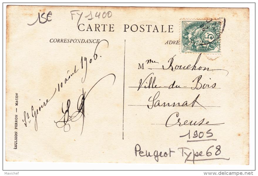 Carte Photo - Voiture Familiale - Double Phaéton Peugeot Type 68 De 1905 - Circulé 1906 - Turismo