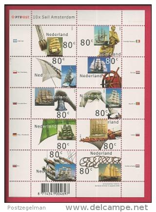NEDERLAND, 2000, Mint Never Hinged, Stamp(s)sheet, Sail Amsterdam, NVPH Nr. 1909-1918, F2489 - Blocks & Sheetlets