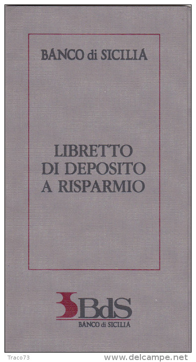 BANCO DI SICILIA  /  Libretto Di Deposito A Risparmio _ SPECIMEN - [ 2] 1946-… : Républic