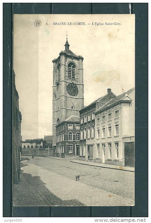 BRAINE-LE-COMTE: L'Eglise Saint Gery, Niet Gelopen Postkaart  (GA15950) - Braine-le-Comte