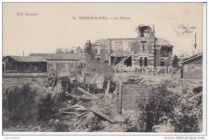 VENDIN LE VIEIL ( Après  Le Guerre ) La Mairie - Frankreich