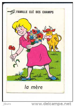 Humour Femme Ramassant Des Fleurs Dans Un Champs Et Vache / Coquelicot Fleur // IM