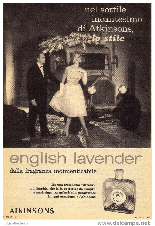 # ATKINSONS ENGLISH LAVENDER 1950s Italy Advert Pubblicità Publicitè Reklame Parfum Perfume Profumo Cosmetics - Perfume & Beauty