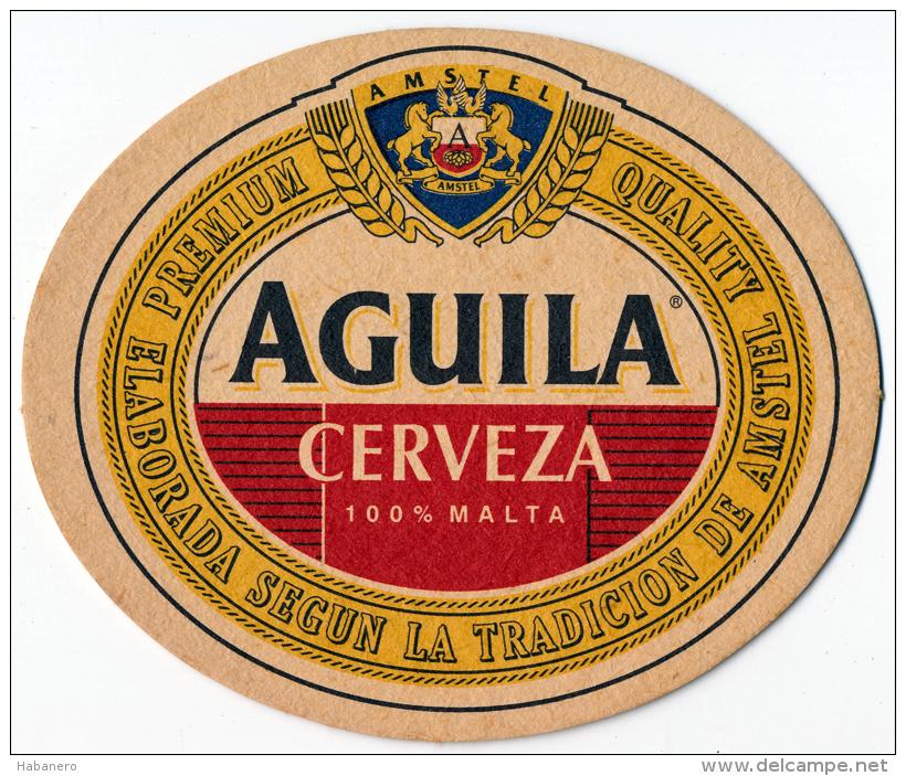 SPAIN - AGUILA BEER MAT - AMSTEL BREWERY - NEW UNUSED - Sous-bocks