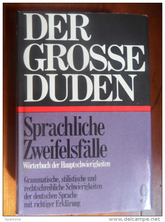 """Der Grosse Duden 9  """"Sprachliche Zweifelsfälle""""  De 1965 - Dictionnaires"""