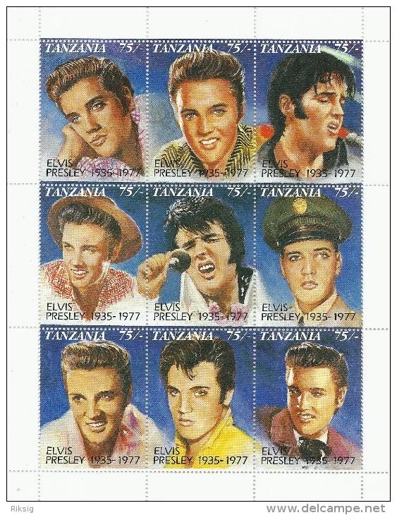 Elvis Presley  -  Block  From Tanzania  # 683 # - Elvis Presley