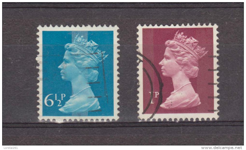 1975 - Serie Courante / ELIZABETH II    Yv No 733/734  Serie Complete - Machin-Ausgaben