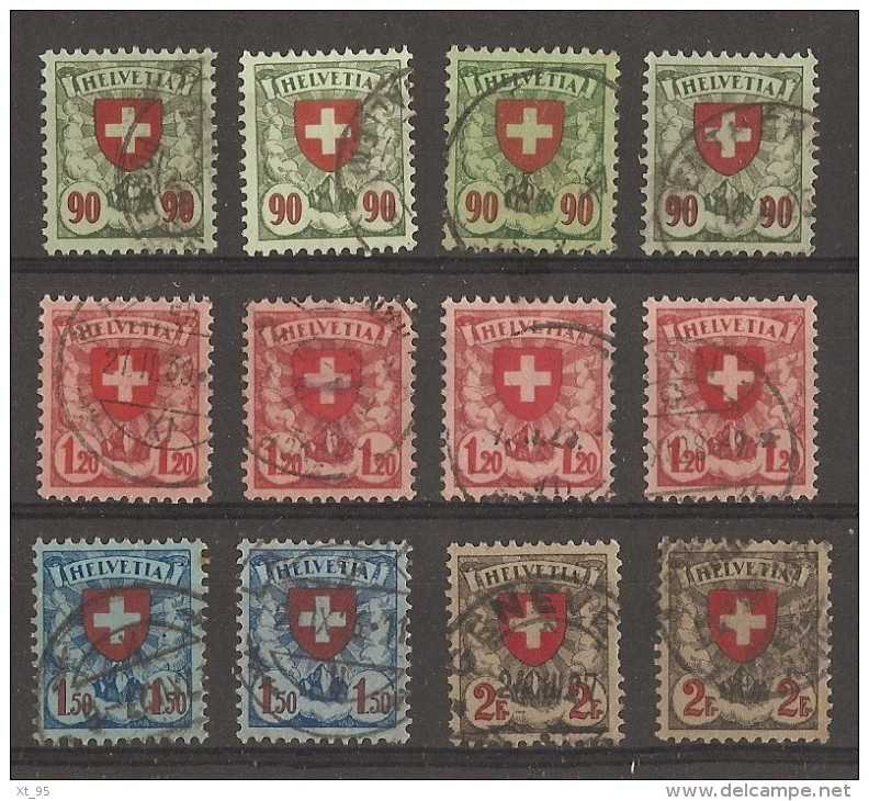 Suisse - Petit Lot De 12 Timbres - Cote + 50 Euros - Svizzera