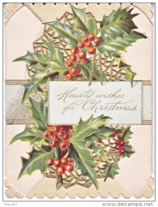 VICTORIAN  ERA  1880´s   TUCK  ARTISTIC  SERIES   CHRISTMAS  CARD  SENTIMENTS    ELLIS  WALTON - Mechanical