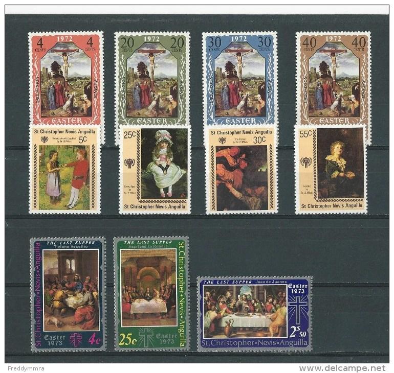 St Christophe: 262/ 65 + 276/ 78 + 412/ 415 ** - St.Kitts-et-Nevis ( 1983-...)