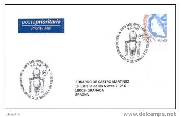 ITALIA ITALY 2007. SPECIAL POSTMARK. MUSEUM OF TOYS AND DOLLS. SABBIONETA - Puppen