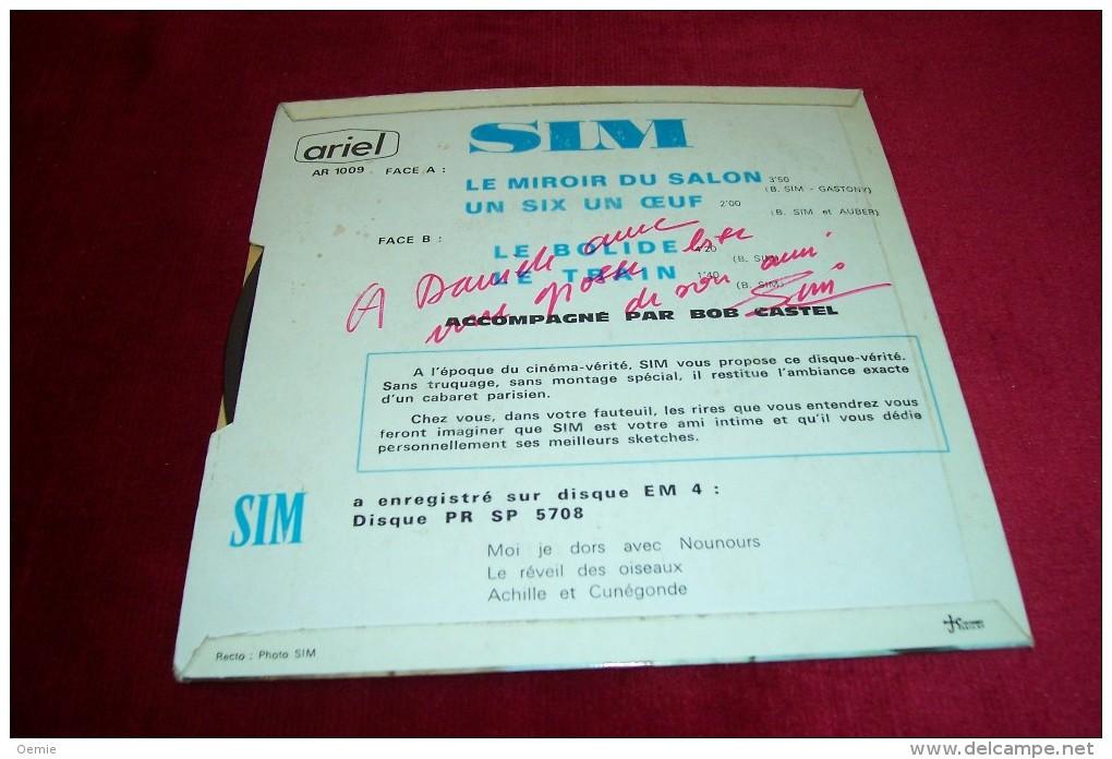 AUTOGRAPHES SUR DISQUE 45 TOURS ° SIM - Autogramme