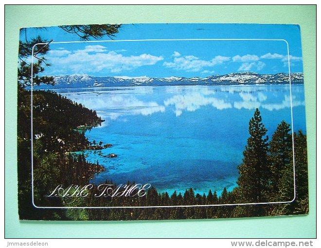 "USA 1988 Postcard ""Lake Tahoe"" To England - Olympics - Man At Rings - Gymnastics - Children Year Cancel - Etats-Unis"