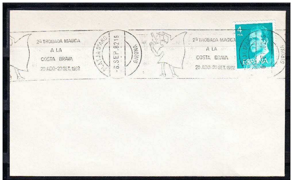 PLATJA D´ARO 1982. 2ª TROBADA MAGICA A LA COSTA BRAVARODILLO PUBLICITARIO. CN 2537 - Fiestas
