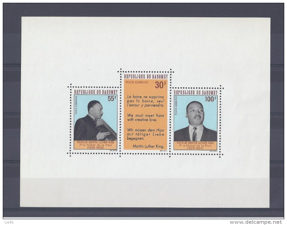 DAHOMEY. Mort Du Pasteur Martin Luther King - Benin – Dahomey (1960-...)