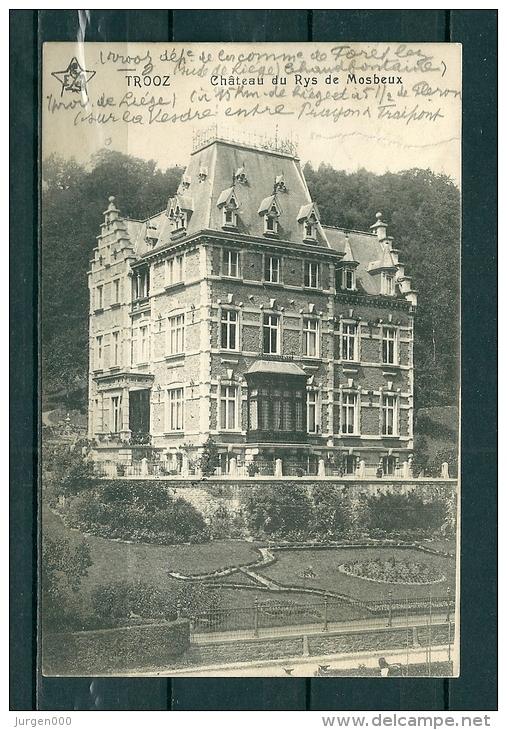 TROOZ: Chateau Du Rys De Mosbeux, Gelopen Postkaart 1920 (GA17166) - Trooz