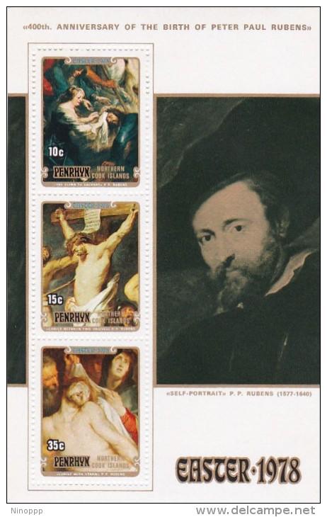Penrhyn 1978 Easter,Rubens,Souvenir Sheet MNH - Penrhyn
