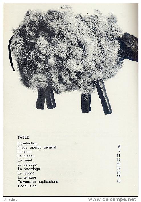 FILER LA LAINE AU ROUET 1974 - Laine