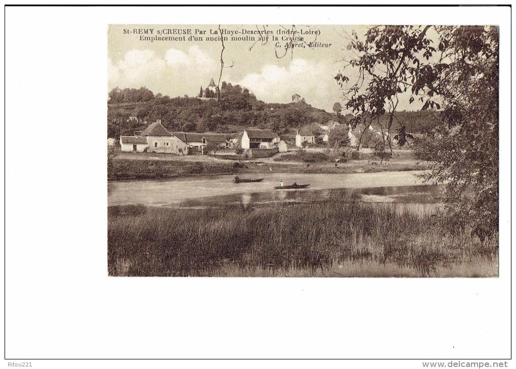 37 - SAINT-REMY-SUR-CREUSE Par La Haye-Descartes - Emplacement D'un Ancien Moulin Sur La Creuse - - Autres Communes