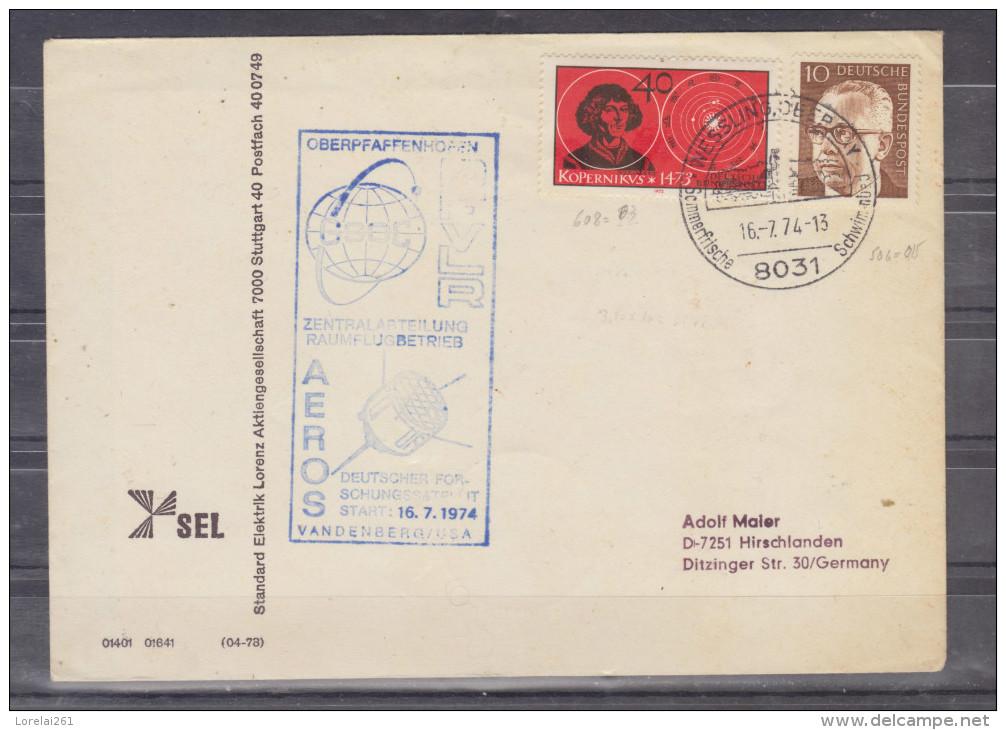 Lettre Distribué Dans 1974 Route Allemagne - Romania (Bucuresti) - BRD