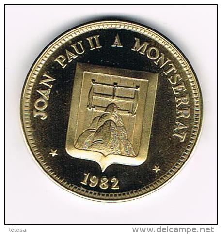 ¨¨ PENNING  JOAN PAU II  A MONTSERRAT 1982 - Pièces écrasées (Elongated Coins)