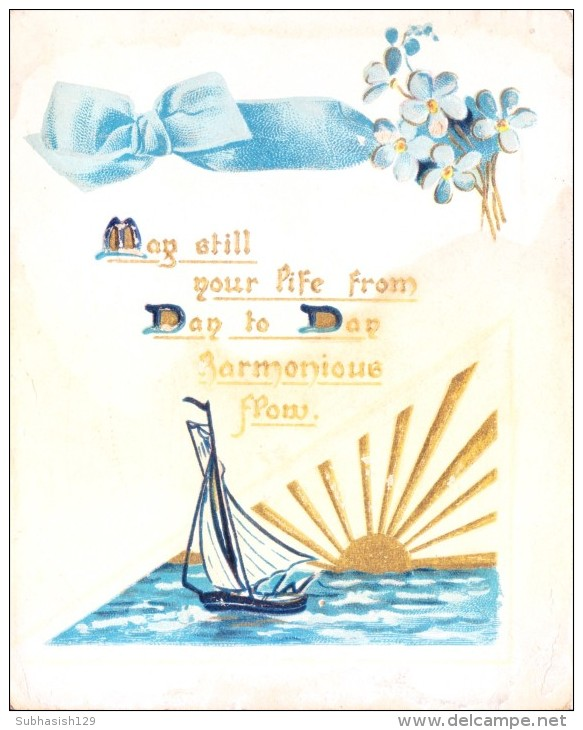 VERY OLD & VINTAGE GREETINGS CARD - DAY TO DAY HARMONIOUS FLOW - Other