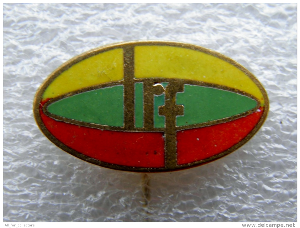 Pin Badge From Lithuania, Lithuanian Rugby Federation LRF - Rugby
