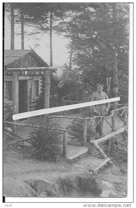 Artillerie Observatoire De Tir Officier Allemand Avec Binoculaire Res.fuss.art. Régiment 10 Meuse Verdun Cph 14-18 Ww1 - War, Military