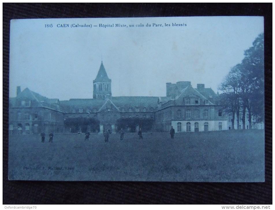 Caen , Hopital Mixte , Un Coin Du Parc , Les Bléssés - Caen