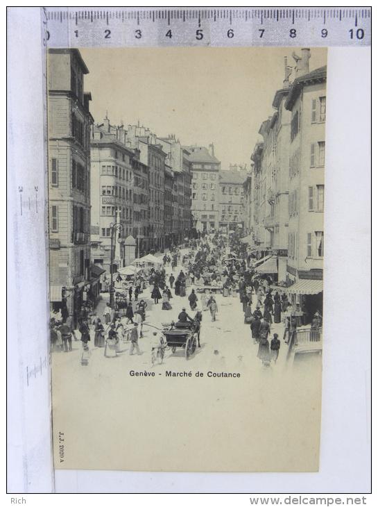 CPA Précurseur SUISSE GENEVE - Marché De Coutance - GE Genève