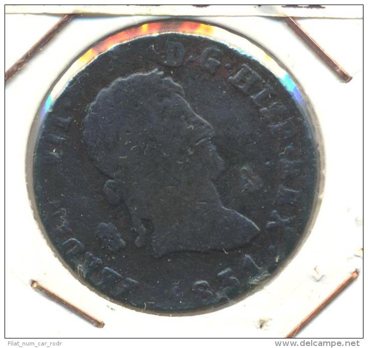 ESPAÑA FERNANDO VII AÑO 1831 4 MARAVEDIES - Autres