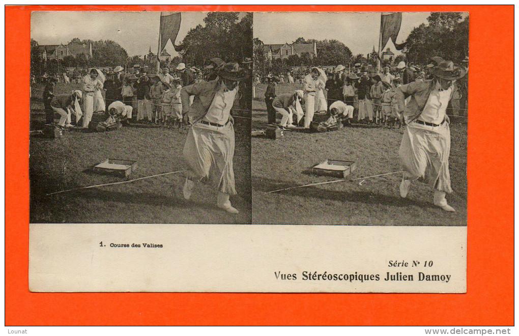 Course Des Valises Vues Stéréoscopiques Julien Damoy Série N°10 - Cartes Postales