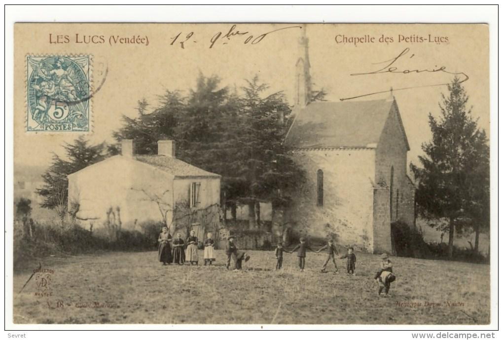 LES LUCS  -  Chapelle Des Petits Lucs. Belle Animation. - Les Lucs Sur Boulogne