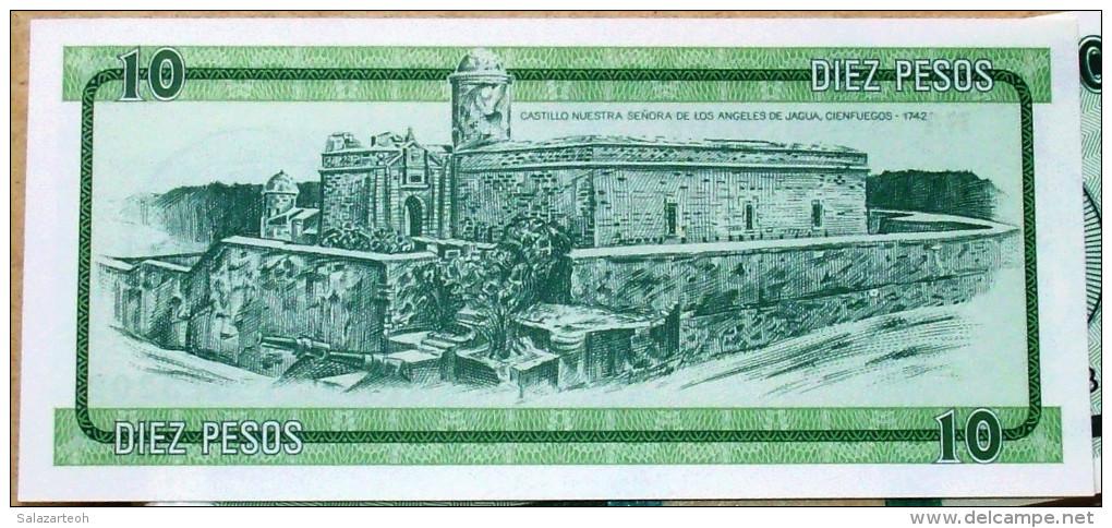 Certificado De Divisa Letra B (Exchange Certificate), Verde, DIEZ (10) PESOS, 1985 UNC, CUBA - Cuba