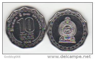 2x 10 Rupiah  = SRI LANKA = 2009 UNC New - Sri Lanka