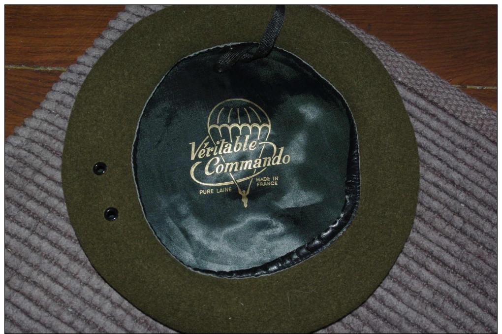 Beret Fabrication Ancienne Veritable Commando Couleur 13eme DBLE De La Legion - Headpieces, Headdresses