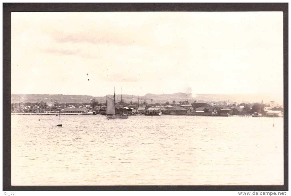 BA8) Barbados - Bridgetown Viewed From Harbour - C.1920s RPPC - Barbados