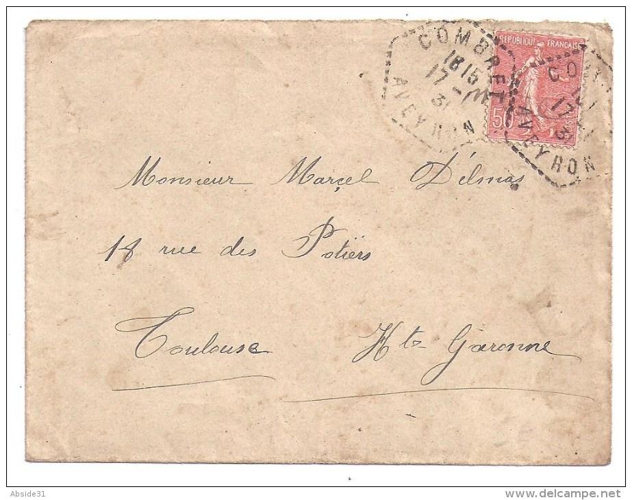 AVEYRON - Cachet Pointillé Hexagonal De COMBRET - Marcophilie (Lettres)