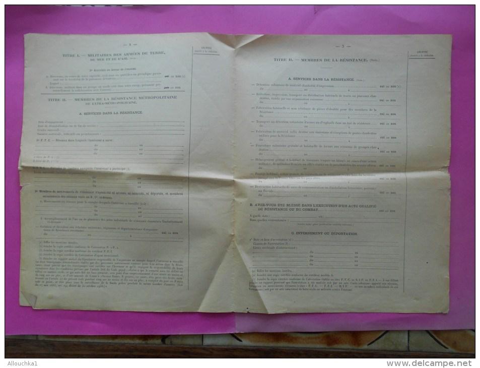 Document Historique Archive Demande De Carte De Combattant Artillerie Goettmann Guerre 39/45 - Documents Historiques