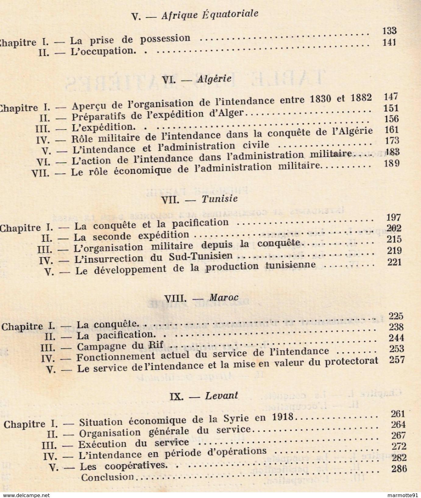 ARMEES FRANCAISES OUTRE MER EXPOSITION PARIS 1931 SERVICE INTENDANCE COLONIES ALGERIE AFRIQUE TUNISIE INDOCHINE LEVANT - Français