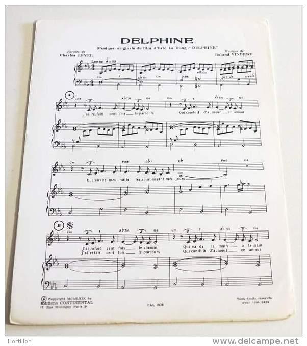 Rare Partition Vintage / Vintage Sheet Music CHARLES LEVEL / ROLAND VINCENT : Delphine - Musique & Instruments